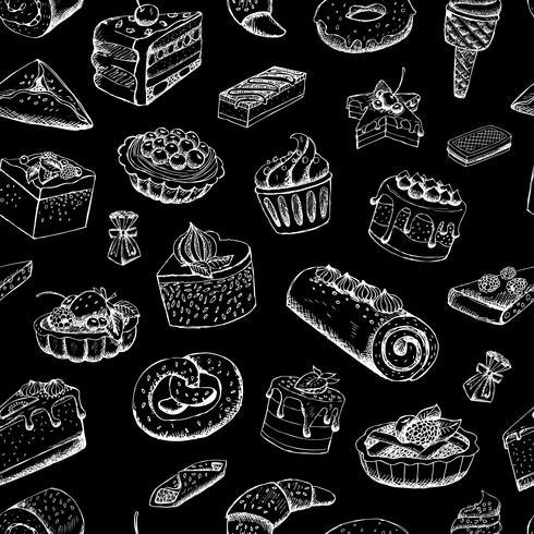 Pâtisseries au tableau vecteur