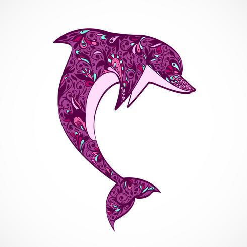 saut de dauphin vecteur
