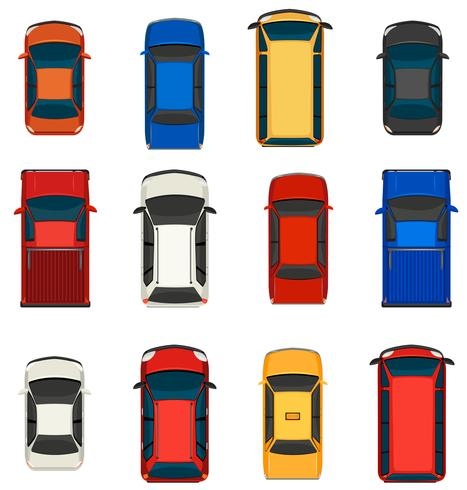 Un groupe de véhicules vecteur