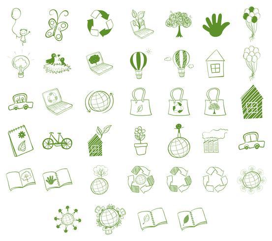 Différents objets écologiques vecteur