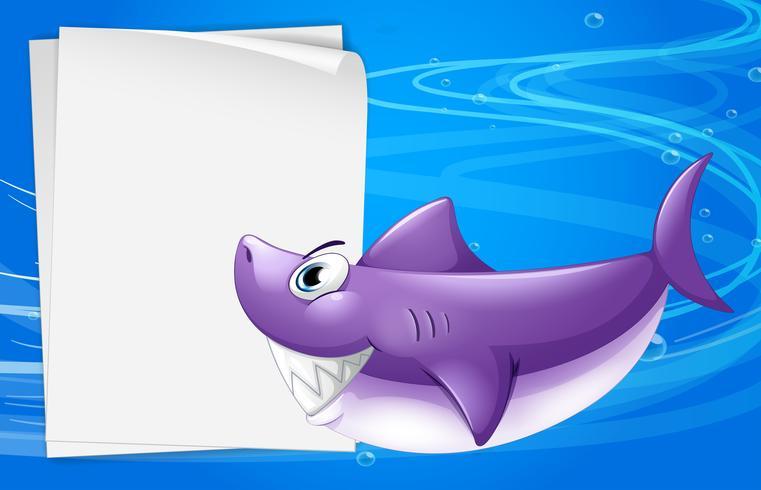 Un papier vierge dans la mer vecteur
