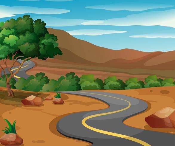 Route à la campagne vecteur