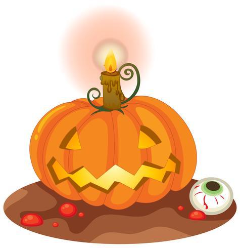Citrouille d'Halloween sur fond blanc vecteur