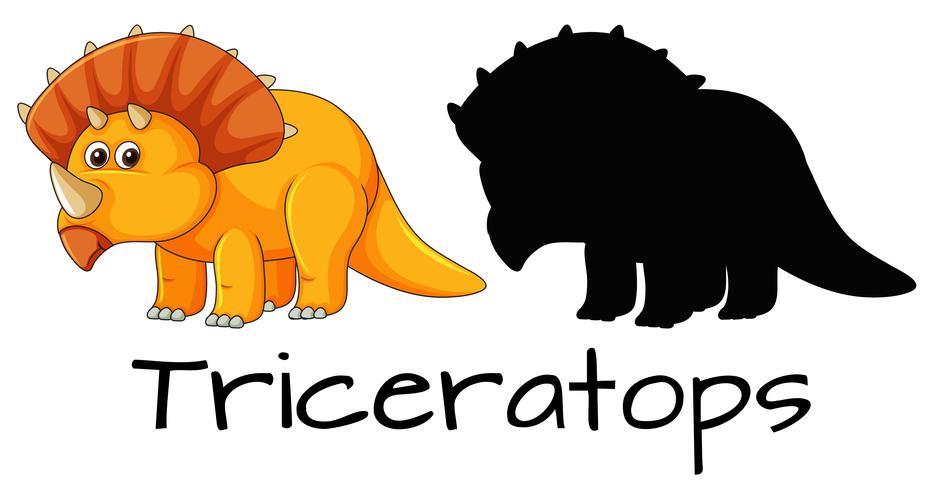 Conception d'un dinosaure tricératops vecteur