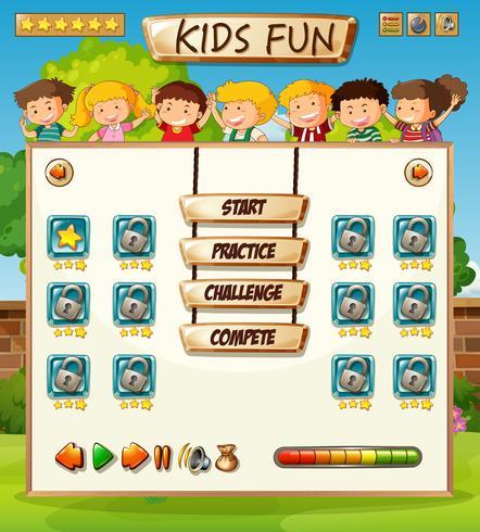 Modèle de jeu pour enfants vecteur