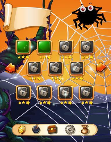 Modèle de jeu avec thème halloween vecteur