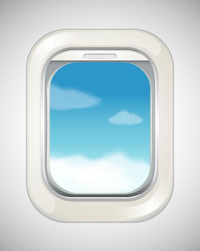 Scène du ciel depuis la fenêtre de l'avion vecteur