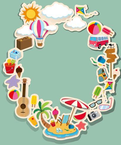 Design de la frontière avec le thème de l'été vecteur