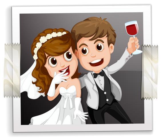 Photo de mariage vecteur
