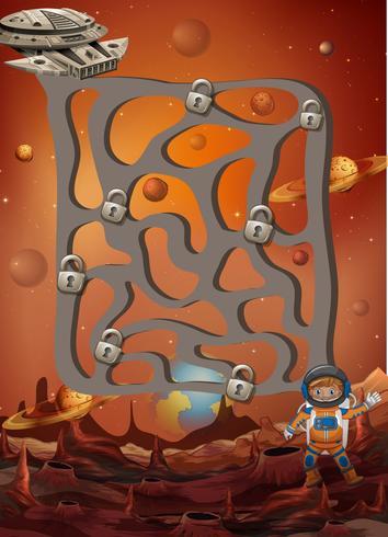 Un jeu de puzzle de labyrinthe de l'espace vecteur