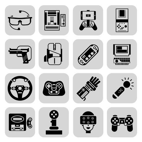 Gadgets de Jeu Noir vecteur