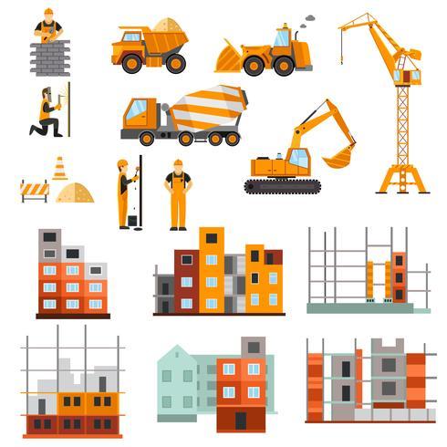 Jeu de machines de construction vecteur