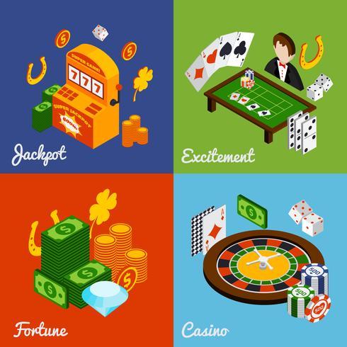 Jeu isométrique de casino vecteur