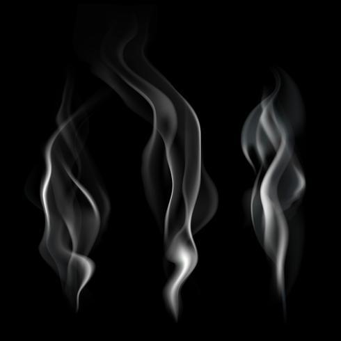Illustration de fumée réaliste vecteur