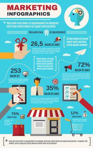Jeu d'infographie marketing vecteur