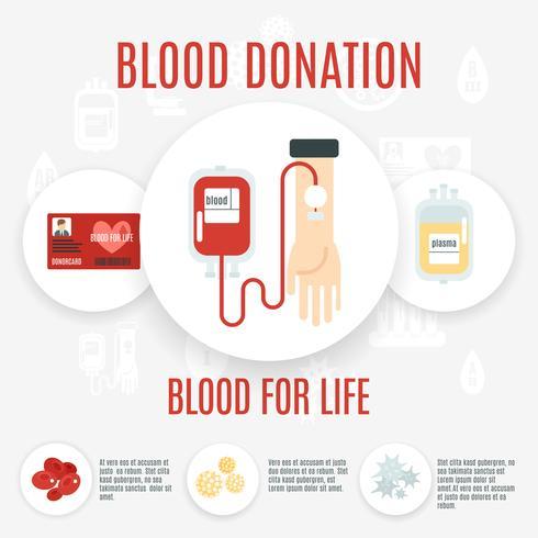 Icône de donneur de sang vecteur