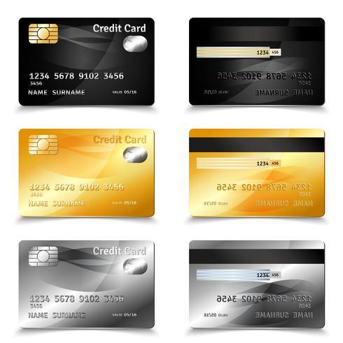 Conception de carte de crédit vecteur