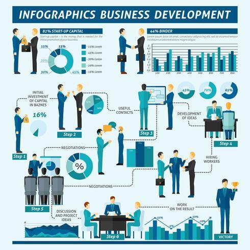Ensemble d'infographie d'hommes d'affaires vecteur