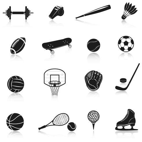 Set d'équipement de sport vecteur