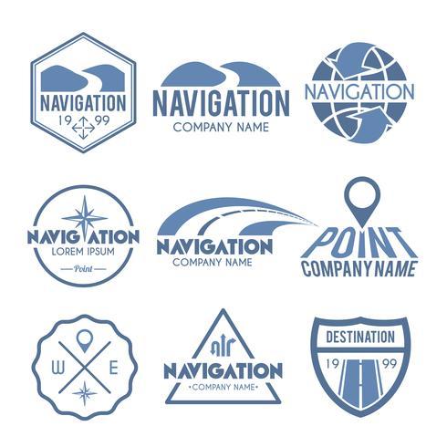 Étiquette de navigation gris vecteur
