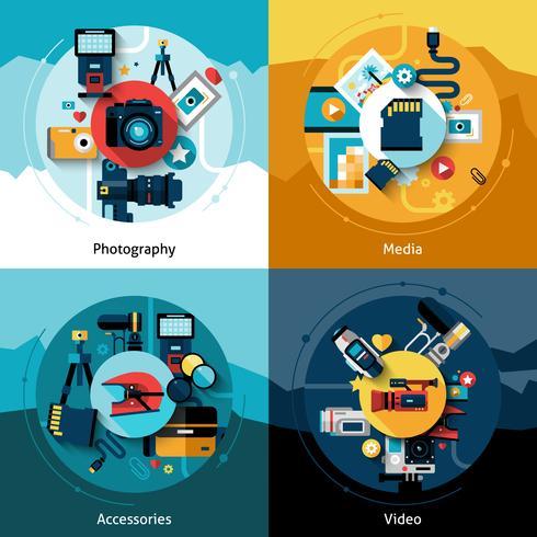 Ensemble de conception de caméra vecteur