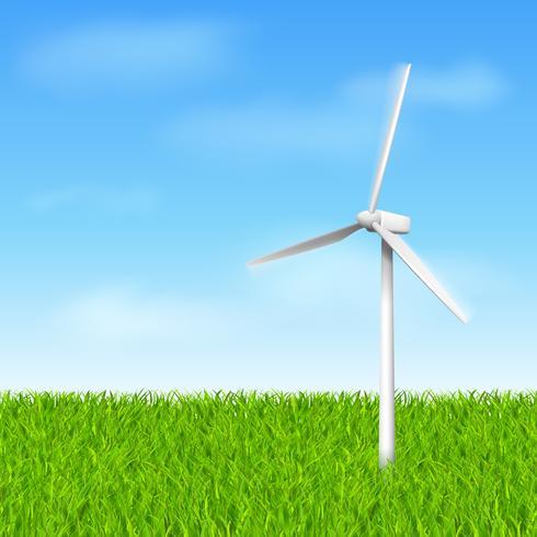 moulin à vent éco vecteur