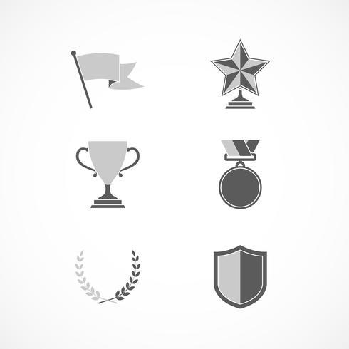 Récompenses gagnantes et signes de reconnaissance vecteur