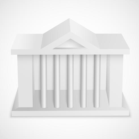 Bâtiment d'icônes de banque vecteur