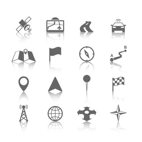 Jeu d'icônes de navigation vecteur