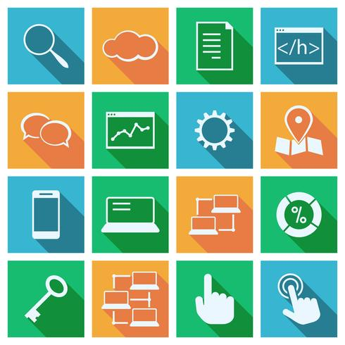 Services de marketing de référencement vecteur
