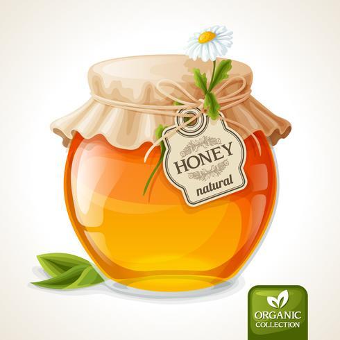 Verre de miel vecteur
