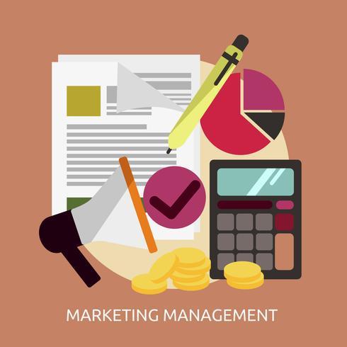 Marketing Management Conceptuel illustration Design vecteur