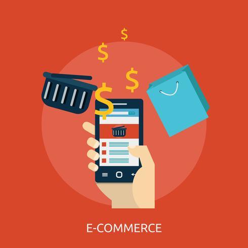 E-Commerce Illustration conceptuelle Design vecteur