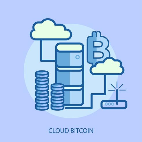 Cloud Bitcoin Conceptuel illustration Design vecteur