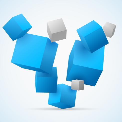 Abstrait 3d cubes vecteur