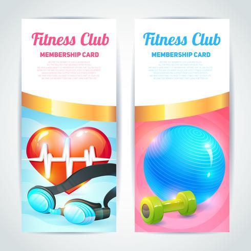 Conception de cartes de club de fitness vecteur