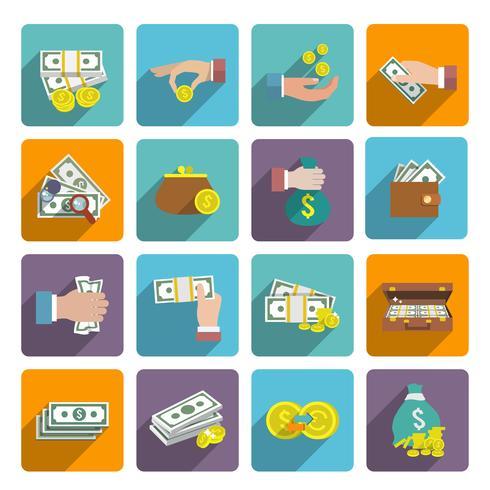 Set d'icônes d'argent vecteur