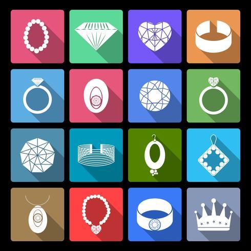 Ensemble d'icônes de bijoux vecteur