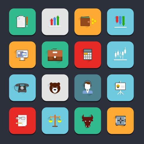Finance échanger des icônes à plat vecteur