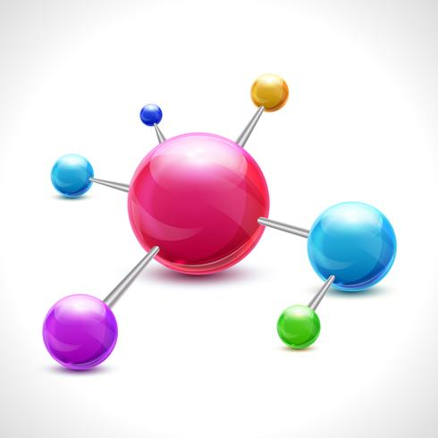 Molécule abstraite 3d vecteur
