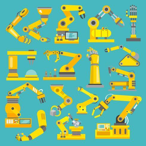 Bras robotique à plat vecteur