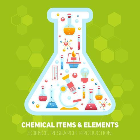 Composition infographie chimie vecteur