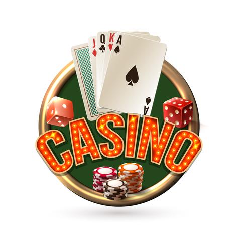 Emblème du casino Pocker vecteur