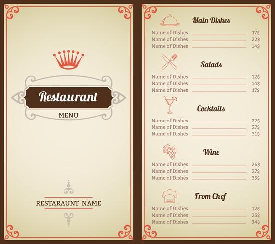 Modele De Menu De Restaurant Telecharger Vectoriel Gratuit Clipart Graphique Vecteur Dessins Et Pictogramme Gratuit