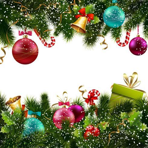 Bordure de décoration de Noël vecteur
