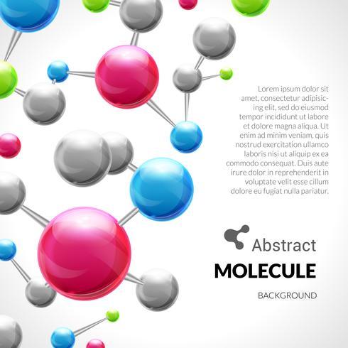 Molécule abstraite fond 3d vecteur