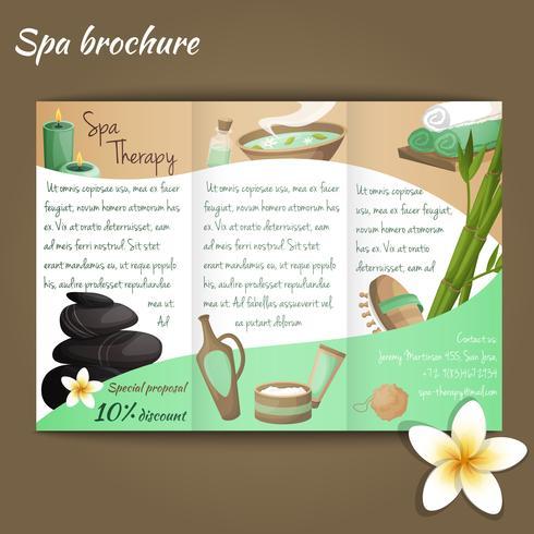 Brochure du salon spa vecteur