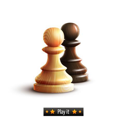 Pions d'échecs isolés vecteur