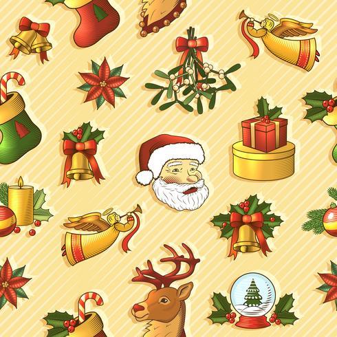 Modèle sans couture de Noël vecteur