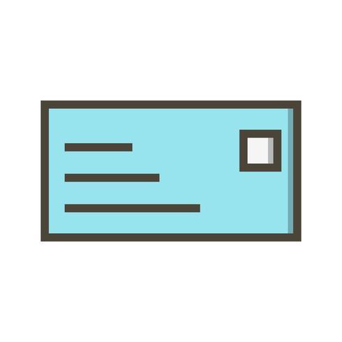 Icône de carte d'identité de vecteur